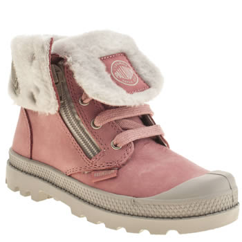 Palladium Pink Baggy Leather Girls Junior