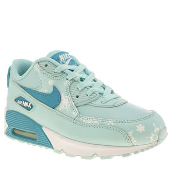 Girls Nike Pale Blue Air Max 90 Prem Ltr Girls Junior