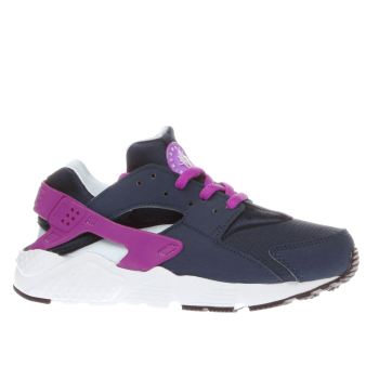 Nike Navy Huarache Run Girls Junior
