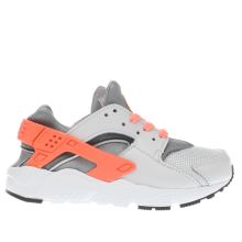 Nike Light Grey Huarache Run Girls Junior