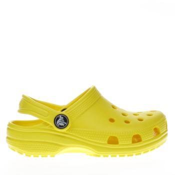 Crocs Yellow Classic Clog Girls Junior