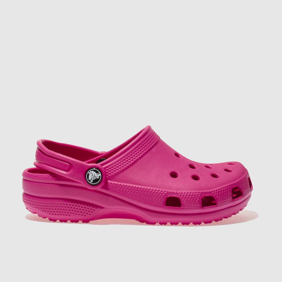 Crocs Crocs Pink Classic Clog Girls Junior Sandals
