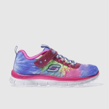 Skechers Pink & Blue Skech Appeal Hot Tropic Girls Junior