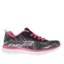 Skechers Black & Pink Appeal 2.0 Tropical Breeze Girls Junior