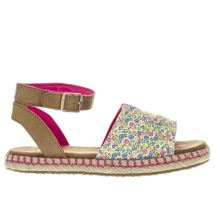 Toms Pink & Tan Malea Girls Junior