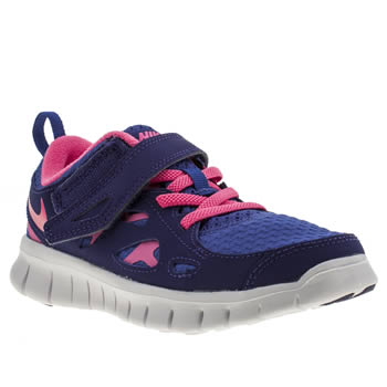 Nike Blue Free Run 2-0 Girls Junior