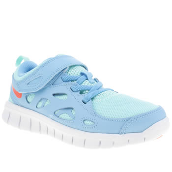 Girls Nike Pale Blue Free Run 2 Girls Junior