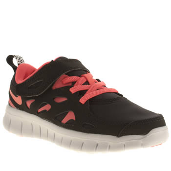 Nike Black & pink Free Run 2-0 Girls Junior
