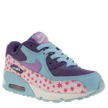 Nike Multi Air Max 90 Prem Mesh Girls Junior