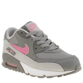 Nike Grey Air Max 90 Mesh Girls Junior