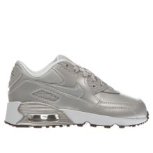 Nike Silver Air Max 90 Mesh Girls Junior