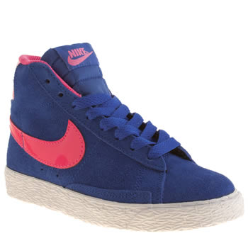 Nike Blue Blazer Mid Vintage Girls Junior