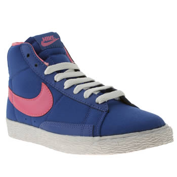 Girls Nike Blue Blazer Mid Vintage Girls Junior