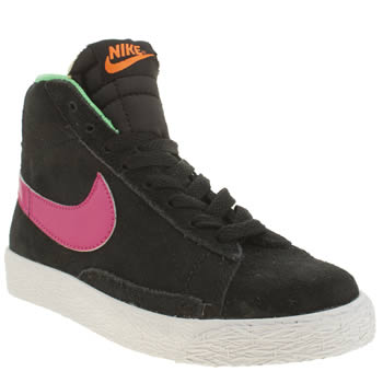 Nike Black & pink Blazer Mid Vintage Girls Junior