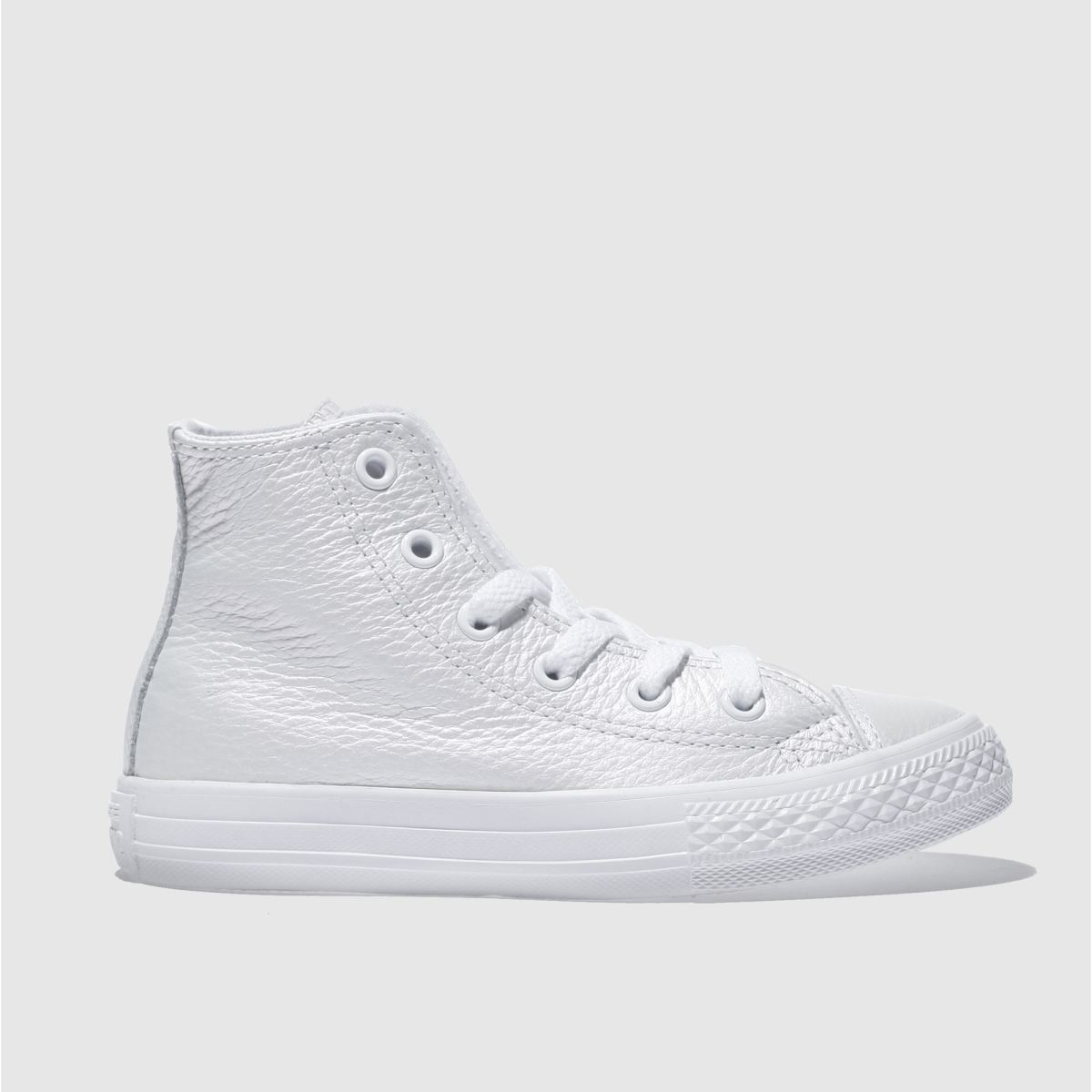 converse white all star hi Girls Junior Trainers