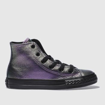 Converse Purple All Star Hi Girls Junior