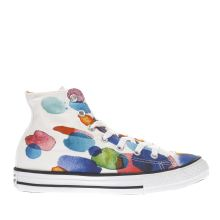 Converse White & Blue All Star Hi Girls Junior