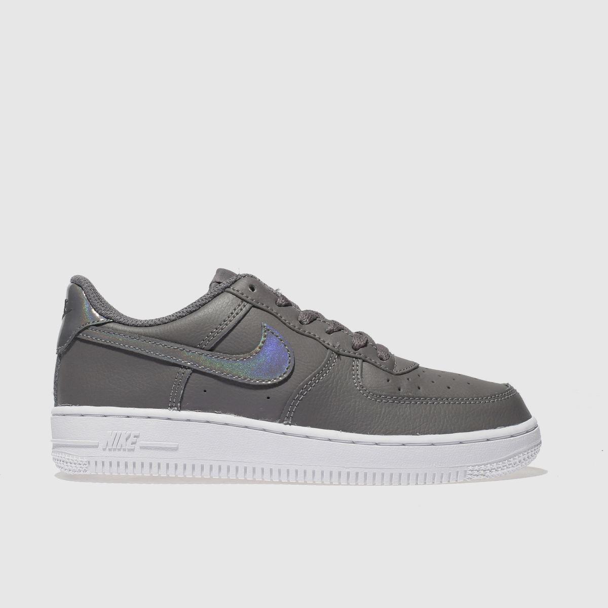 Nike Grey Air Force 1 Trainers Junior