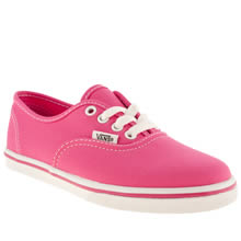 Junior Pink Vans Authentic Lo Pro