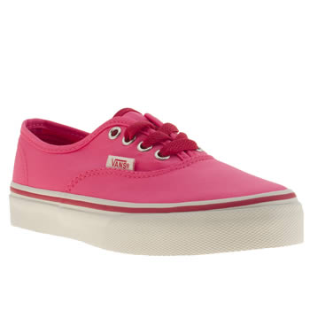 Vans Pink Authentic Jnr Girls Junior