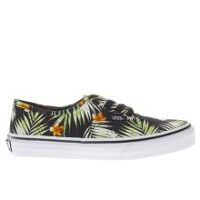 Vans Black & Green Decay Palms Authentic Girls Junior