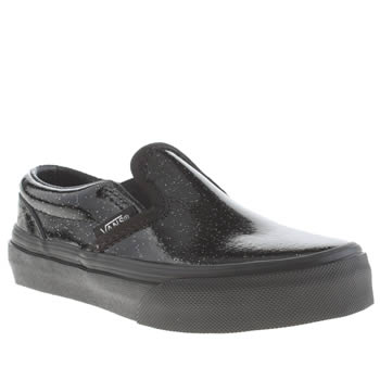 Vans Black Patent Galaxy Classic Slip-on Girls Junior
