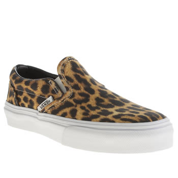 Vans Black & Brown Classic Slip-on Girls Junior