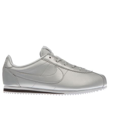 girls silver nike cortez se junior trainers schuh. Black Bedroom Furniture Sets. Home Design Ideas