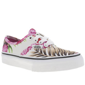 Vans White & Pink Authentic Girls Junior