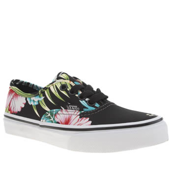 Vans Black & pink Authentic Girls Junior
