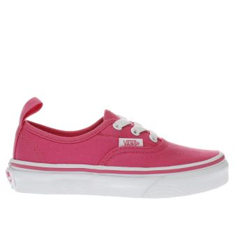 Vans Pink Authentic Elastic Girls Junior