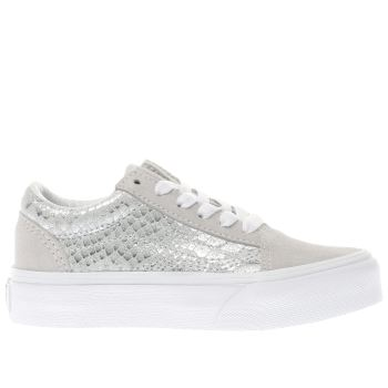 Vans White Old Skool Girls Junior