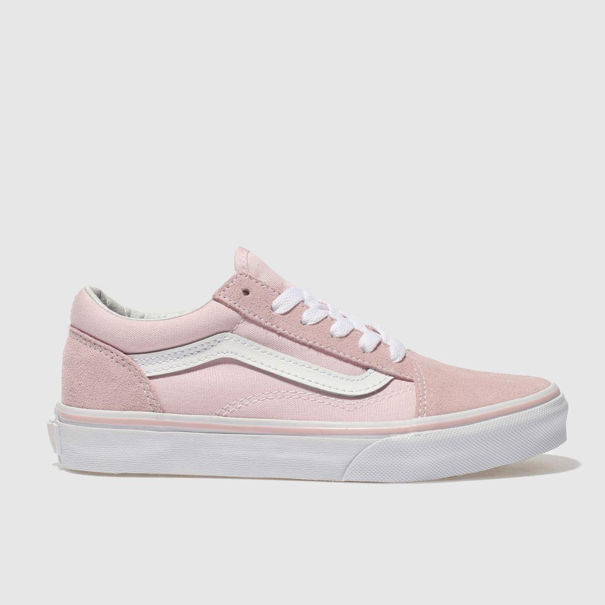 5e02b3604cb Vans Pale Pink Old Skool Trainers Junior