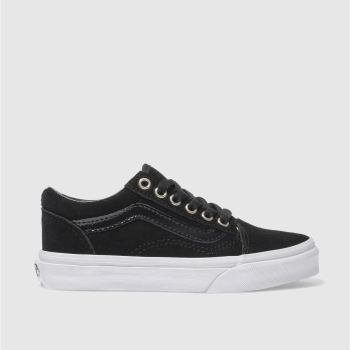 Vans Black & Gold OLD SKOOL Girls Junior