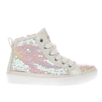 Lelli Kelly White Viola Sequin Mid Girls Junior