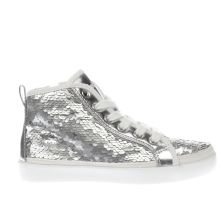 Lelli Kelly Silver Viola Sequin Mid Girls Junior