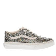Vans White & Silver Milton Girls Junior