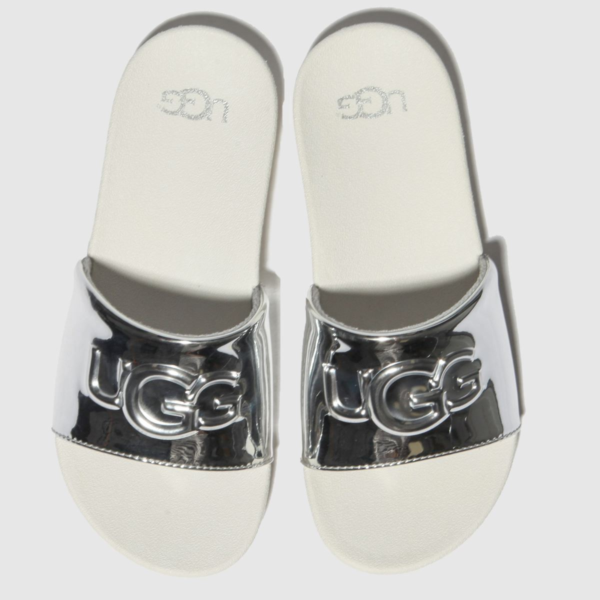 Ugg Silver Graphic Slide Trainers Junior