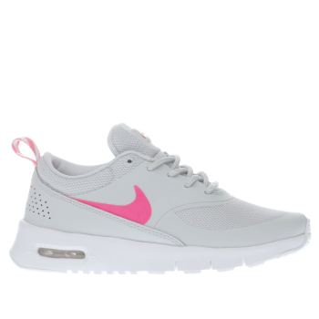 NIKE LIGHT GREY AIR MAX THEA GIRLS JUNIOR TRAINERS
