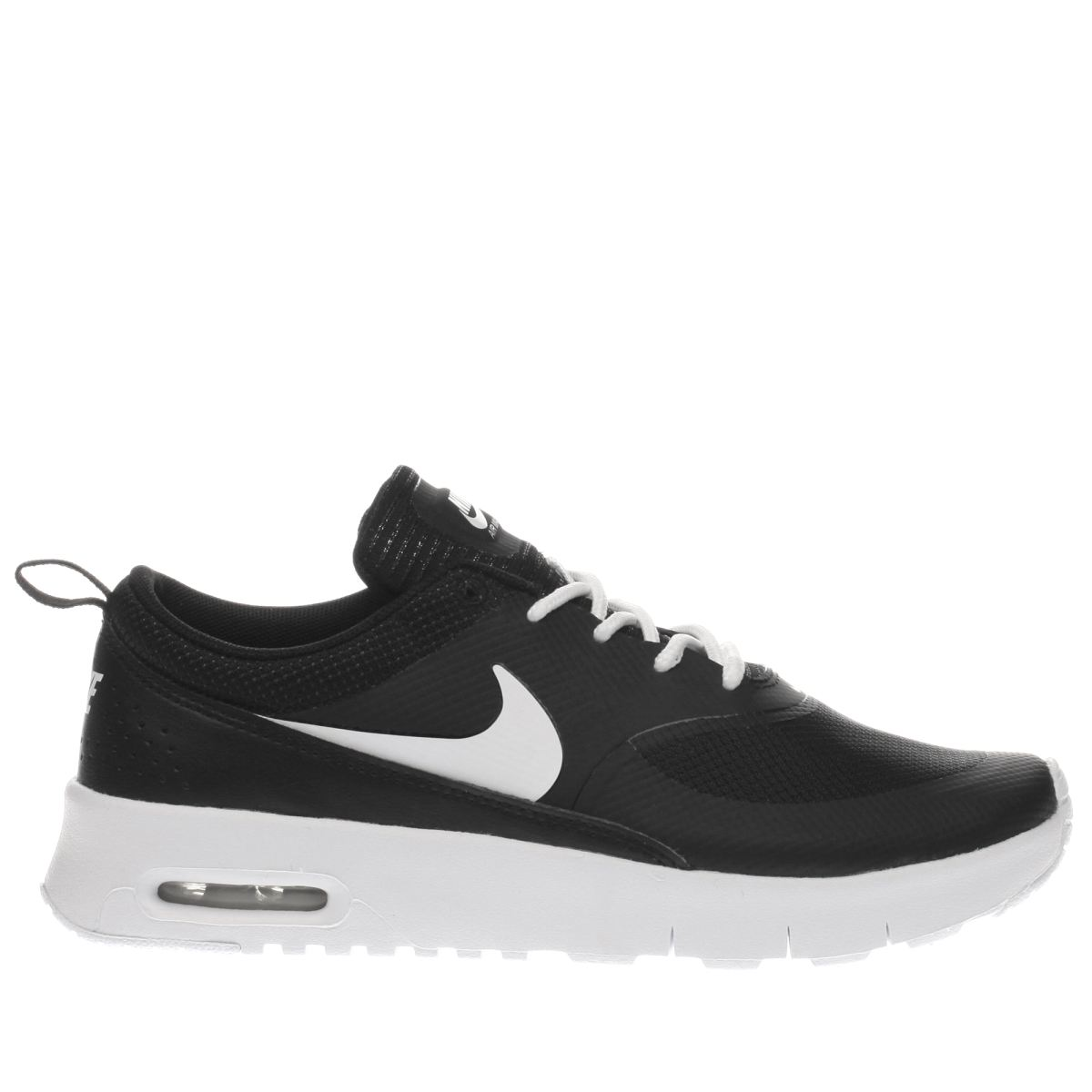 nike black & white air max thea Girls Junior Trainers
