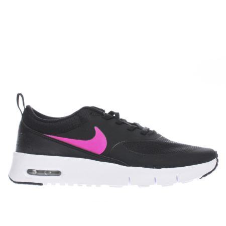 girls black pink nike air max thea junior trainers schuh. Black Bedroom Furniture Sets. Home Design Ideas