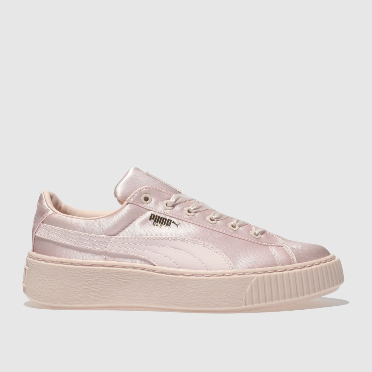 Puma Pale Pink Basket Platform Tween Girls Junior Junior