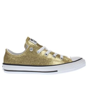 Converse Gold All Star Ox Glitter Girls Junior