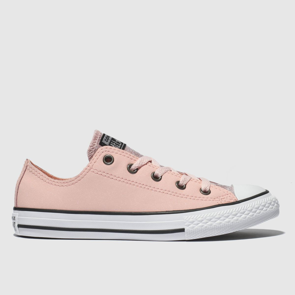 Converse Pale Pink All Star Ox Glitter Trainers Junior