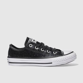 Converse Black All Star Ox Glitter Girls Junior