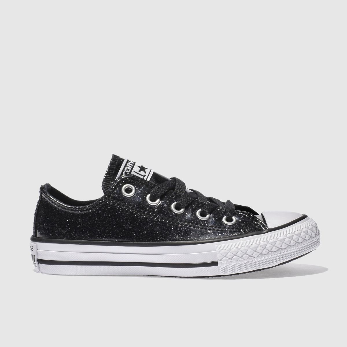 converse black all star ox glitter Girls Junior Trainers
