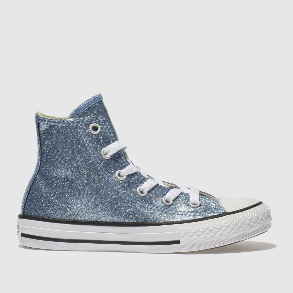 Converse Blue All Star Hi Glitter Trainers Junior
