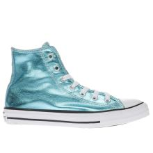 Converse Turquoise Chuck Taylor All Star Hi Girls Junior
