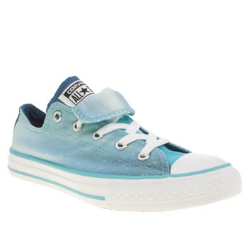 Girls Converse Turquoise All Star Hi Stream Print Girls Junior