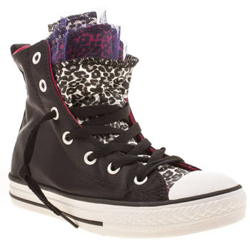 Girls Converse Black Party Hi Girls Junior